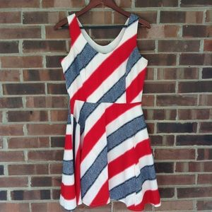 Urban Outfitters Jack blue red white dress